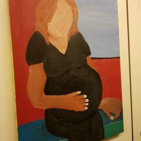 אופטימיות תערוכה ציורים של אפרת ביבי, אמנית בעלת צרכים ייחודיים- 14 באוגוסט 2017