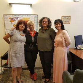 מפגש להצגת המדד המגדרי עם חהכ עאידה סולימאן תומא, יור הועדה לקידום מעמד האישה25 ביולי 2017