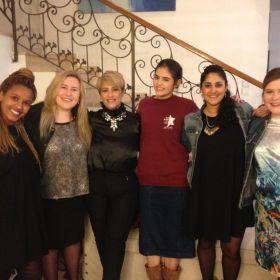 מפגש חודשי עם ליאורה ריבלין ודר הלן קסטיאל ינואר 2015