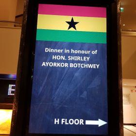 """שגרירות גאנה - ארוחת ערב לכבוד שרת החוץ של גאנה דן פנורמה ת""""א 6.11.18"""